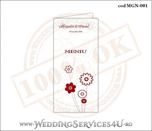 Meniu de Nunta cu flori MGN-001