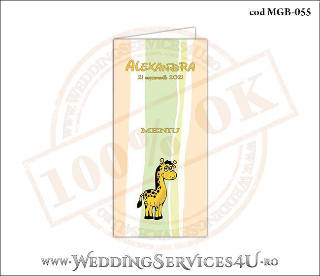 MGB-055 Meniu pentru Botez cu girafa
