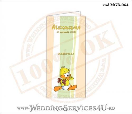 MGB-064 Meniu pentru Botez cu bebe ratusca
