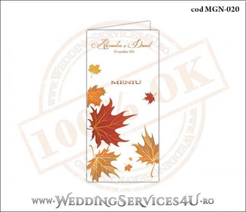 MGN-020 Meniu pentru Nunta sau Botez cu tematica de toamna