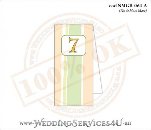 NMGB-064-A Numar de Masa pentru Botez cu dungi pastel