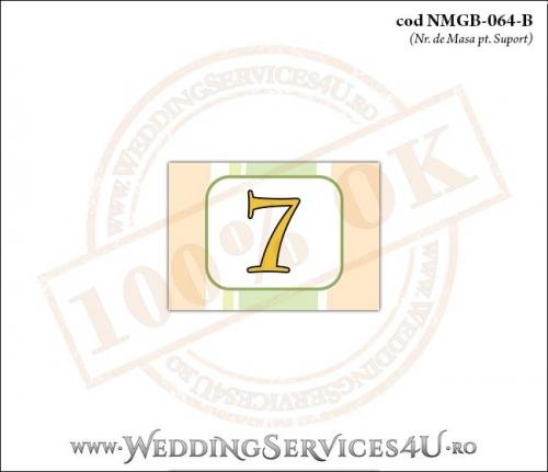 NMGB-064-B Numar de Masa pentru Botez cu dungi pastel