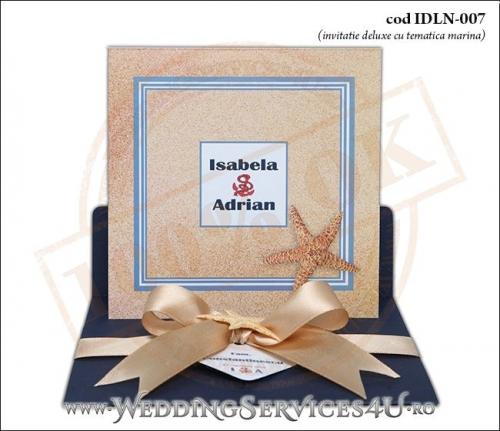 Invitatie_Deluxe_Nunta_IDLN-007-04-Tematica.Marina.cu.stea.de.mare.si.fundita