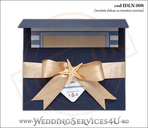 Invitatie_Deluxe_Nunta_IDLN-008-01-Tematica.Marina.cu.stea.de.mare.si.fundita