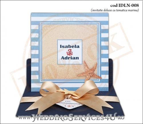 Invitatie_Deluxe_Nunta_IDLN-008-04-Tematica.Marina.cu.stea.de.mare.si.fundita