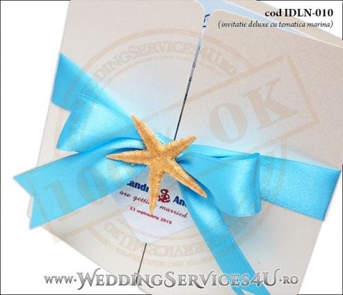Invitatie_Deluxe_Nunta_IDLN-010-02-Tematica.Marina.cu.fundita.si.stea.de.mare