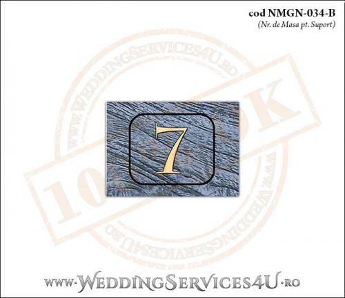 NMGN-034-B Numar de Masa pentru Nunta sau Botez cu tematica marina (cu fundal de lemn si o busola)