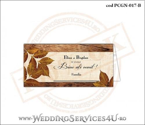 Place Card-uri si Meniuri de nunta cu Tematica de Toamna