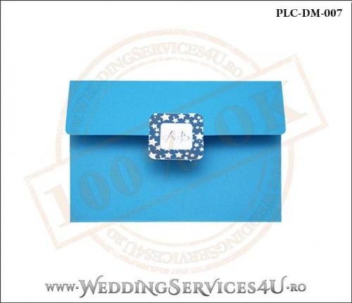 Plic Invitatie Nunta-Botez PLC-DM-007-1 Albastru