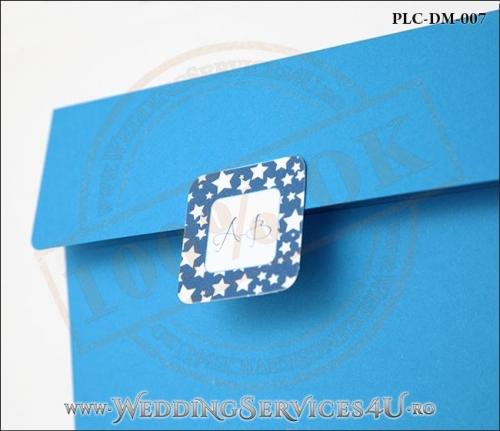 Plic Invitatie Nunta-Botez PLC-DM-007-2 Albastru