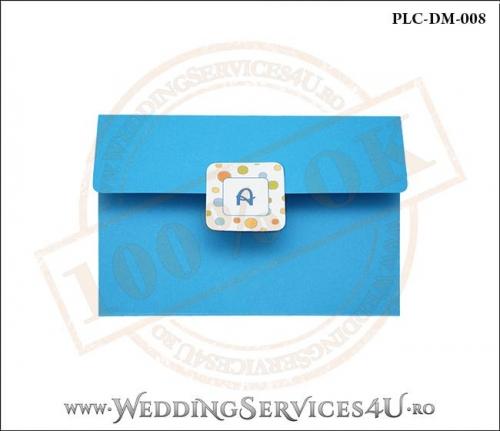 Plic Invitatie Nunta-Botez PLC-DM-008-1 Albastru