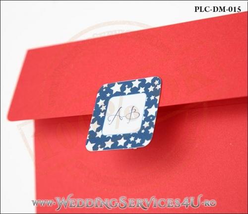 Plic Invitatie Nunta-Botez PLC-DM-015-2 Rosu