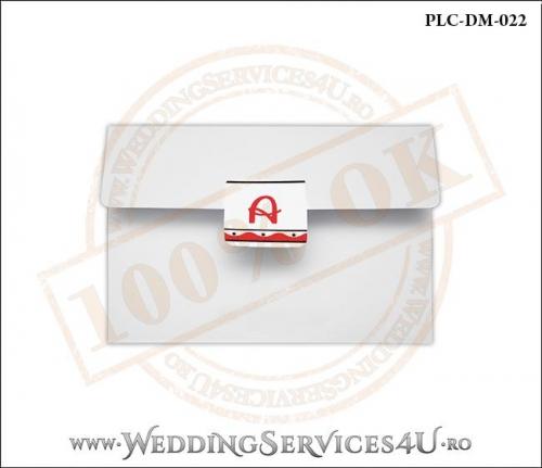 Plic Invitatie Nunta-Botez PLC-DM-022-1 Alb