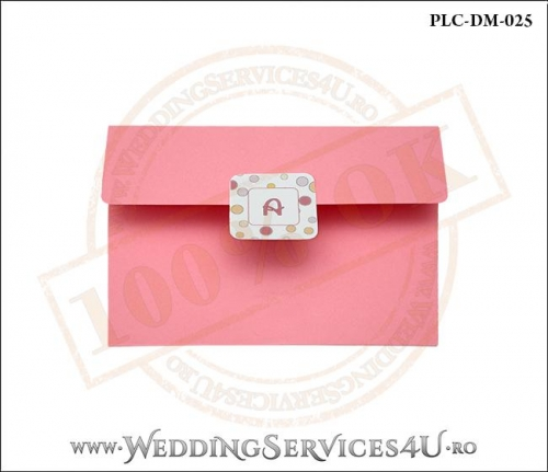Plic Invitatie Nunta-Botez PLC-DM-025-1 Roz