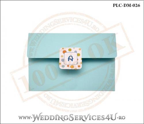 Plic Invitatie Nunta-Botez PLC-DM-026-1 Bleu