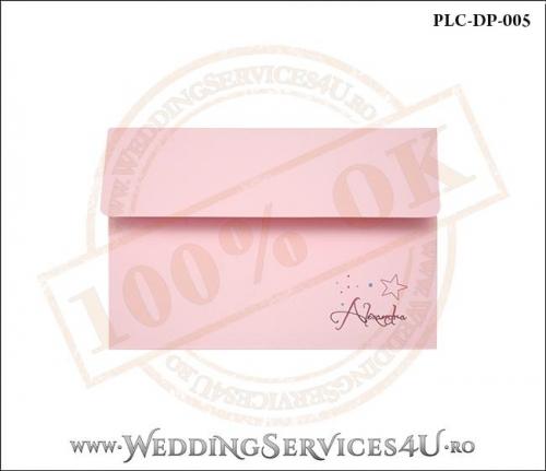 Plic Invitatie Nunta-Botez PLC-DP-005-1 Roz