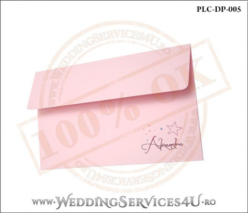 Plic Invitatie Nunta-Botez PLC-DP-005-2 Roz