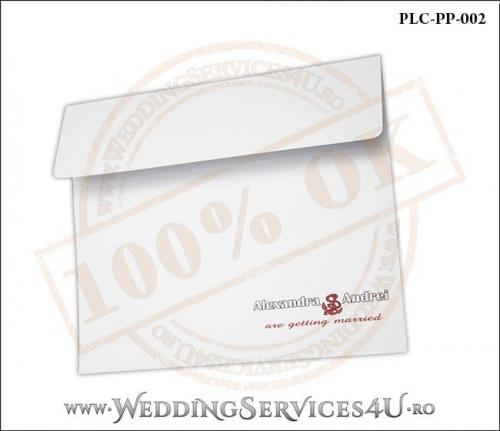 Plic Patrat Alb Invitatie Nunta-Botez PLC-PP-002-2
