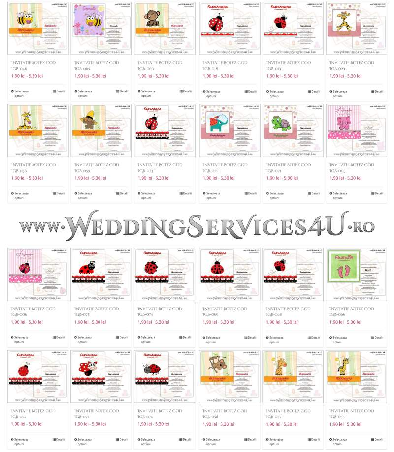 Invitatii De Botez Fetite Weddingservices4uro Servicii
