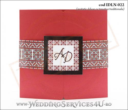 Invitatie_Deluxe_Nunta_Botez_IDLN-022-01_cu_tematica_populara_traditional_romaneasca