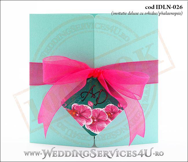 Invitatie Nuntabotez Cod Idln 026 Cu Tematica Exotica Cu Orhidee