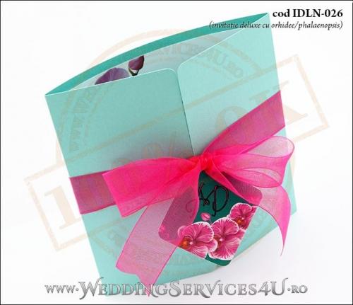 Invitatie_Deluxe_Nunta_Botez_IDLN-026-02_exotica_cu_orhidee_ciclam