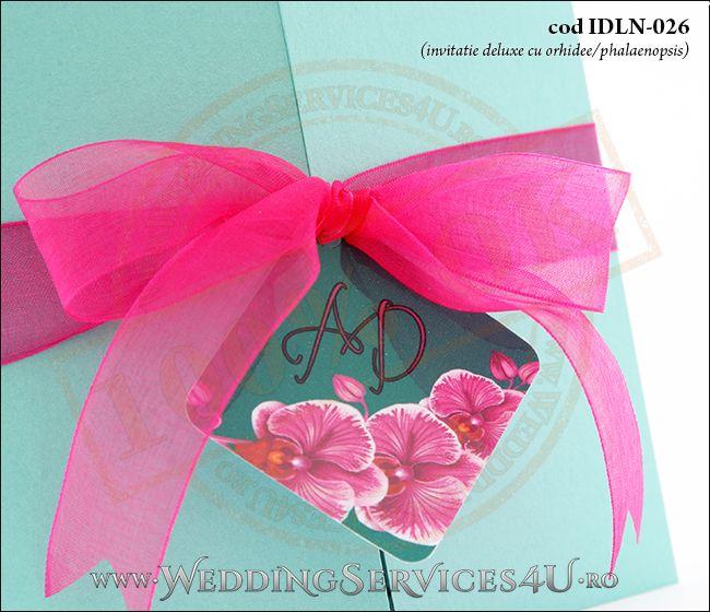 Invitatie_Deluxe_Nunta_Botez_IDLN-026-04_deosebita_cu_orhidee_ciclam