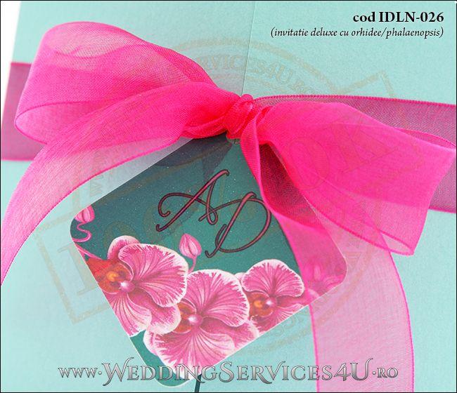 Invitatie_Deluxe_Nunta_Botez_IDLN-026-05_cu_flori_de_orhidee_ciclam