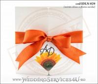 Invitatie_Deluxe_Nunta_Botez_IDLN-029-01_sidefata_cu_flori_de_floarea_soarelui