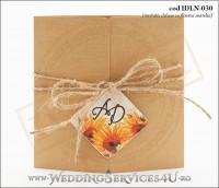 Invitatie_Deluxe_Nunta_Botez_IDLN-030-01_tematica_rustica_cu_flori_de_floarea_soarelui
