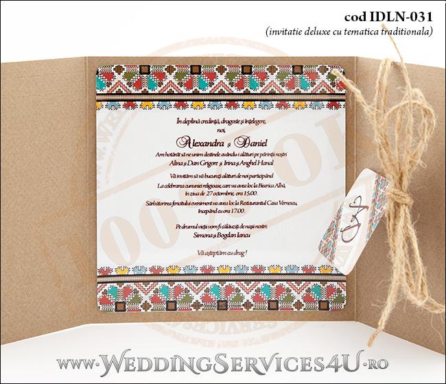 Invitatie Nuntabotez Cod Idln 031 Cu Tematica Traditional