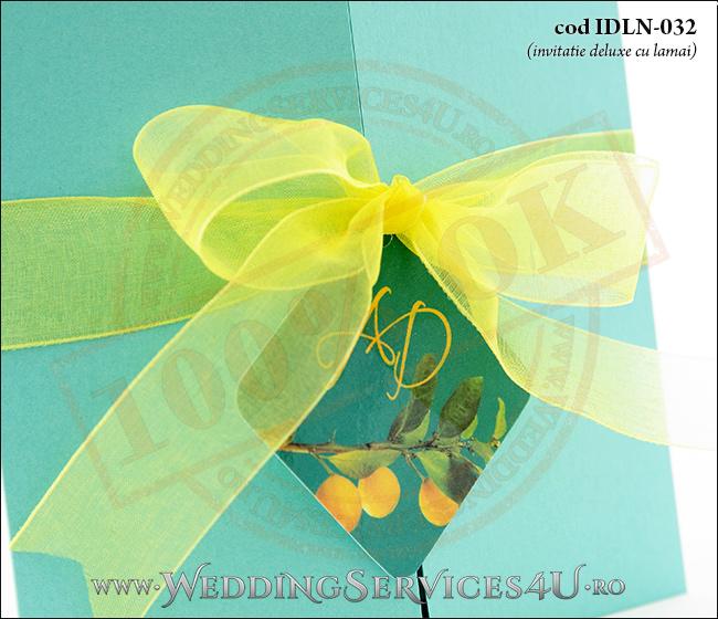 Invitatie_Deluxe_Nunta_Botez_IDLN-032-04_cu_crenguta_de_lamai_cu_lamai_galbene