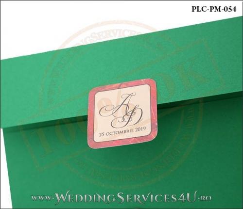 Plic Patrat Invitatie Nunta-Botez PLC-PM-054-02