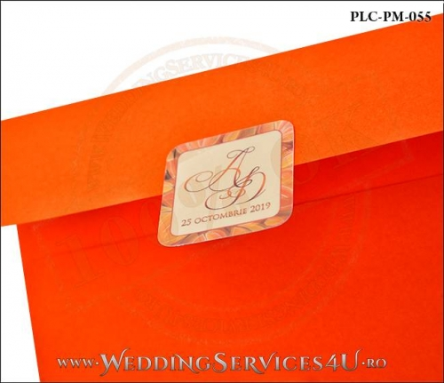 Plic Patrat Invitatie Nunta-Botez PLC-PM-055-02