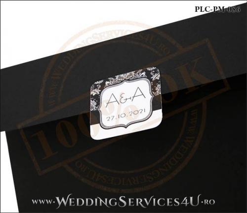 Plic Patrat Invitatie Nunta-Botez PLC-PM-056-02