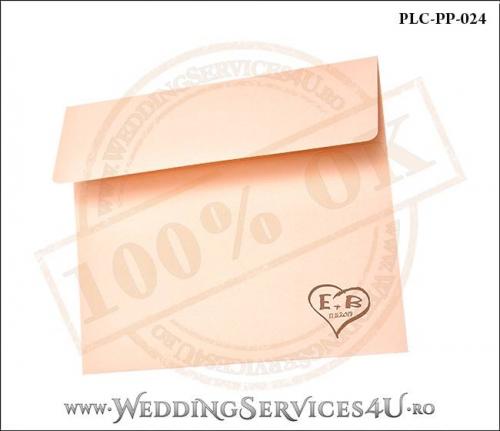 Plic Patrat Invitatie Nunta-Botez PLC-PP-024-02+