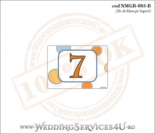 NMGB-085-B Numar de Masa pentru Botez cu Pui de Leu leut