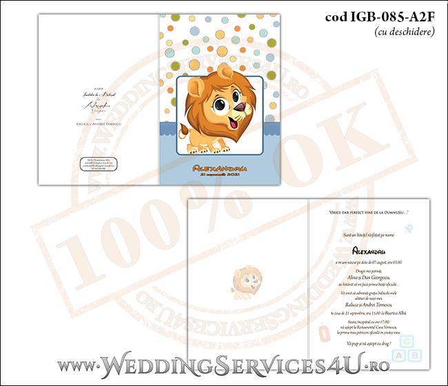 IGB-085-A2F_Invitatie_Botez_cu_pui_de_leut