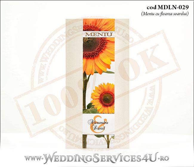 MDLN-029-01_meniu_deosebit_cu_flori_de_floarea_soarelui_nunti_botezuri