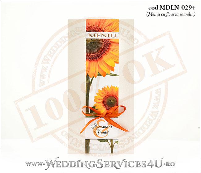 MDLN-029+meniu_nunta_cu_floare_soarelui_botez_de_vis