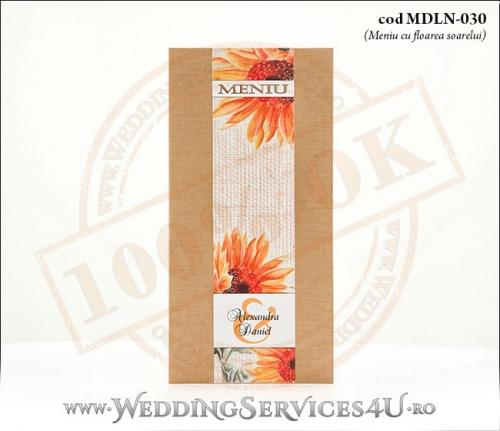 MDLN-030-01_meniuri_nunti_botezuri_rustice_cu_flori_de_floarea_soarelui