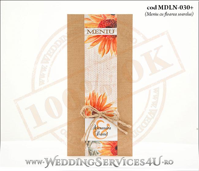 MDLN-030+meniu_traditional_rustic_cu_floarea_soarelui_nunta_botez