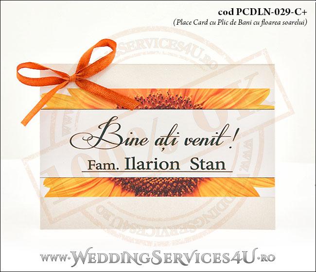 PCDLN-029-C+-01_plic_de_bani_deosebit_cu_flori_de_floarea_soarelui_nunta_botez