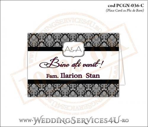 PCGN-036-C Place Card cu Plic de Bani sigilabil pentru Nunta sa