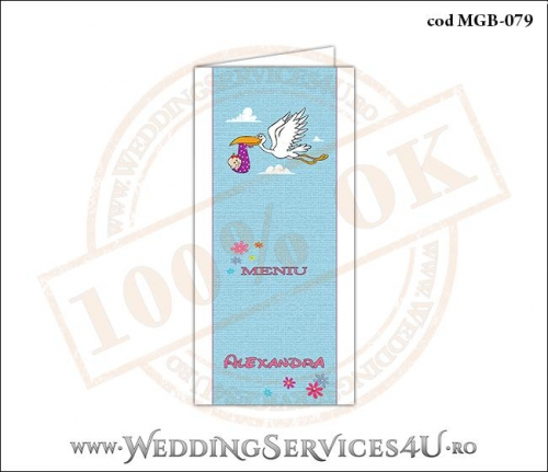 MGB-079 Meniu pentru Botez cu Barza (baby delivery)