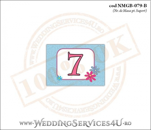 NMGB-079-B Numar de Masa pentru Botez cu Barza (baby delivery)