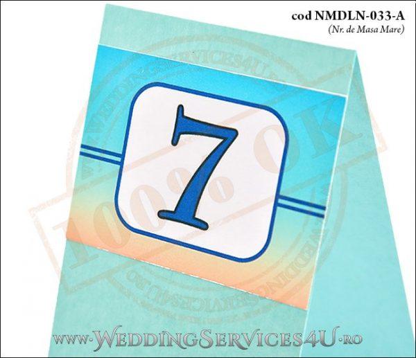 NMDLN-033-A-02 numar de masa turcoaz nunta botez cu tematica marina